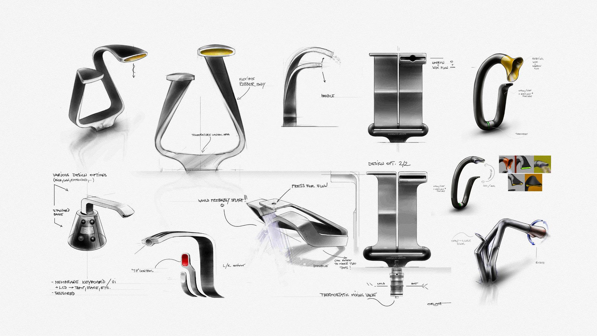 Product design sketchbook for Designed product