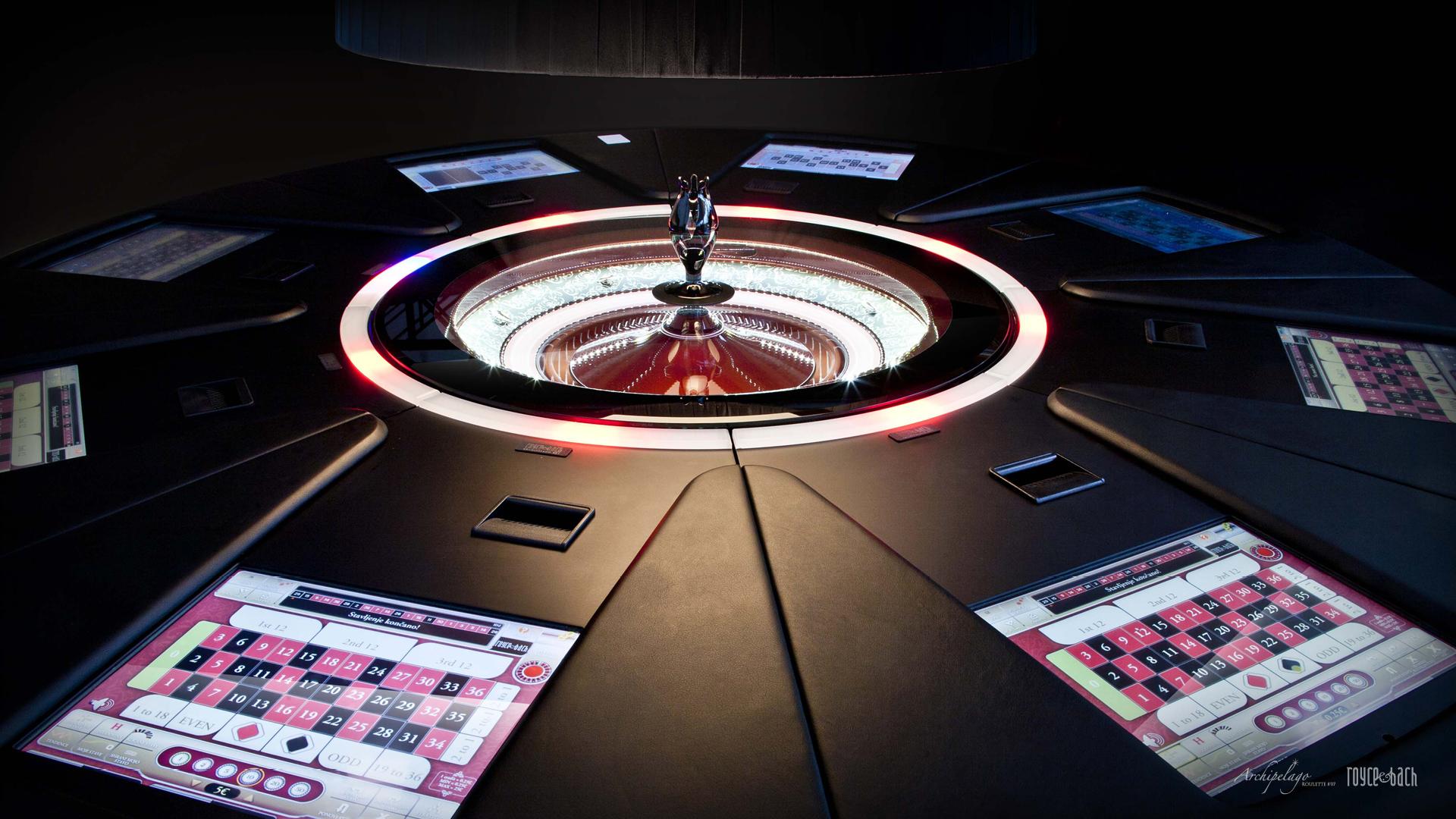 Archipelago electronic roulette - flat upper desk